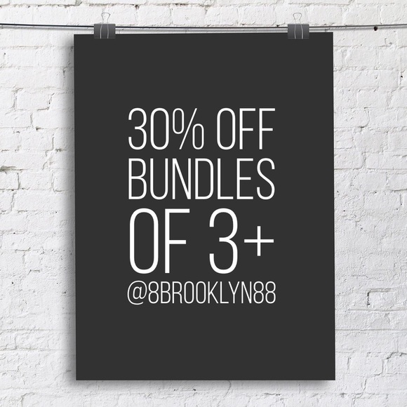 Accessories - 30% off bundles of three or more items